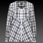 Deep Blue and White Tailored Turner Check Women's