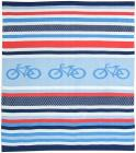 Weegoamigo Knitted Baby Blanket - Cycle Stripe
