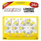 Rayovac Size 10 Hearing Aid Battery 24 Pack