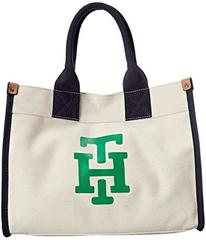 Tommy Hilfiger Canvas TH Print Medium Tote