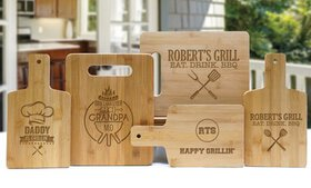 Up to 75% Off Personalized Bamboo Board from Monog