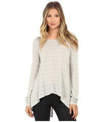 Michael Stars Lolita Stripe Long Sleeve Hi Low w/