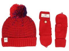 UGG Cardy Block Hat and Flip Mitten Set