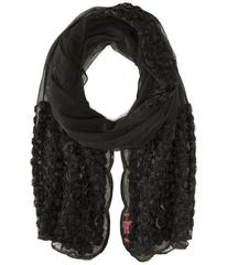Betsey Johnson By A Rose Border Knit Wrap