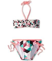 Hurley Prism Bandeau & Tunnel Bottom (Big Kids)