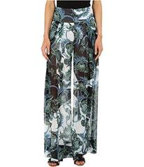 Just Cavalli Ikebana Ray Chiffon Samurai Pants