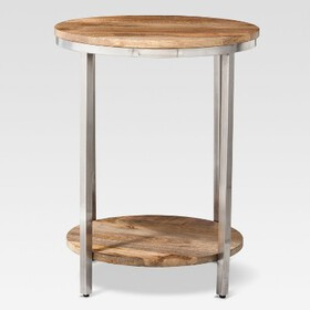 Threshold Berwyn Large round end table Metal and W