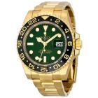 Rolex GMT Master II Green Dial 18K Yellow Gold Oys