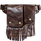 Vicenzo Leather Avril Leather Fringe Waist Pack