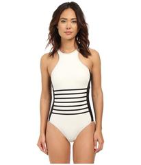 DKNY A Lister Racer Front Maillot w/ Stripping Det