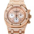 Audemars Piguet Royal Oak Diamond Pave 18K Rose Go