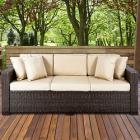 Outdoor Wicker Patio Furniture Sofa 3 Seater Luxur