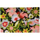 Homefires 22x34-Inch Watercolor Flowers on Black A