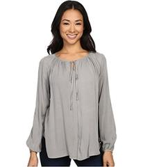 B Collection by Bobeau Rumi Tie Neck Blouse