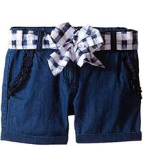 Armani Junior Shorts with Belted Bow in Denim (Tod
