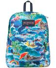 Jansport Superbreak Backpack in Multi Wet Sloth