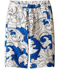 Versace Kids Shorts with All Over Macrobarocco Pri