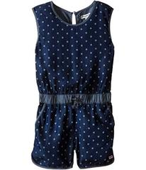 Appaman Soft Kennedy Chambray Romper with Bleached