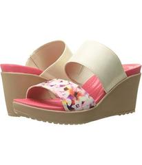 Crocs Leigh II 2-Strap Graphic Wedge