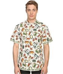 Versace Collection Sea Creature Short Sleeve Butto