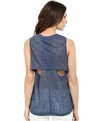 Blank NYC Muscle Tee with Overlapping Racerback De