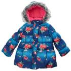 HAWKE Rose Print Puffer Coat w/ Faux Fur Trim (4-6