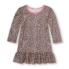 Baby And Toddler Girls Long Sleeve Leopard Print R