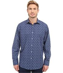 BUGATCHI Sorrento Classic Fit Long Sleeve Woven Sh
