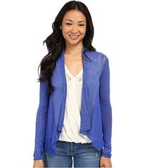 Lucky Brand Woven Mixed Cardigan