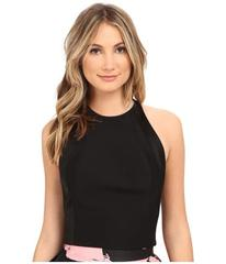 Halston Heritage Sleeveless High Neck Fitted Struc