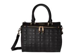 Rampage Plaid Quilted Satchel