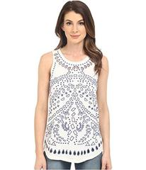 Lucky Brand Eyelet Embroidered Tank Top