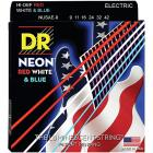 DR Strings Hi-Def NEON Red, White & Blue Electric