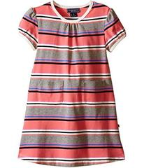 Toobydoo Short Sleeve Dress w/ Grey/Pink/Navy (Inf
