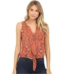 Lucky Brand Tie Front Woven Top