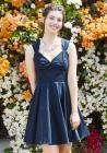 Flare Maiden A-Line Dress in Navy