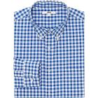 MEN EXTRA FINE COTTON BROADCLOTH CHECKED LONG SLEE