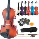 Mendini Student Violin Package in 7 Finishes & 8 S