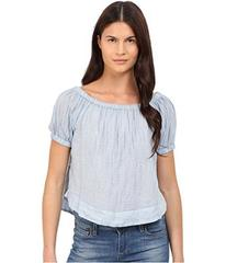 See by Chloe Striped Cotton Voile Off the Shoulder