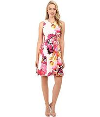 Vince Camuto Printed Cotton Sateen Sleeveless Fit