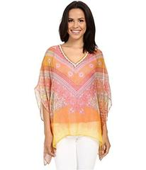 Hale Bob Hide and Go Chic Poncho Silk Blouse with