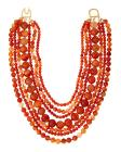 Kenneth Jay Lane Seven-Row Amber Beaded Necklace
