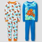 Boys' Finding Nemo 4 Piece Pajama Set - Blue