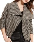 Lauren Ralph Lauren Houndstooth Funnel Neck Jacket