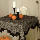 "Embroidered Bats Table Topper - 58"" x 58"""