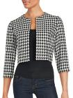Karl Lagerfeld Houndstooth Cropped Jacket