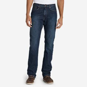 Men's Flannel-Lined Flex Jeans - Straight Fit