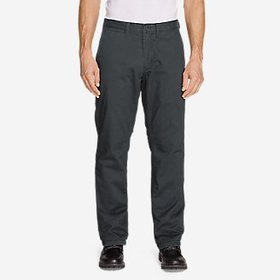 Men's Flannel-Lined Chinos