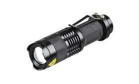 Waterproof Adjustable Focus Tactical LED Flashligh