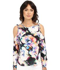 Nicole Miller Summer Layered Floral Blouse